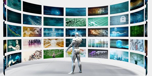 Multimedialnych technologii cyfrowe wideo zawartość streaming Zdjęcia stock © kentoh