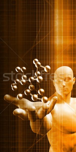 Férfi struktúra művészet absztrakt technológia egészség Stock fotó © kentoh