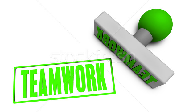 Teamwork Stamp Stock photo © kentoh