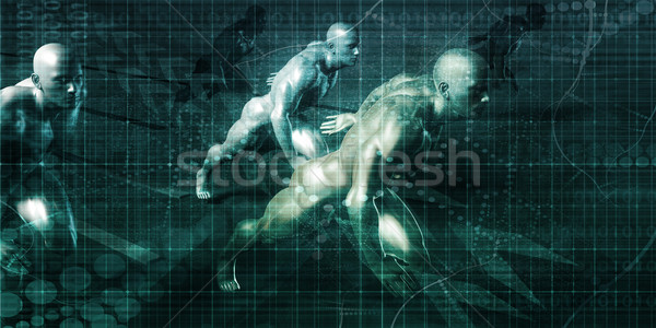 Virtuális munkaerő üzlet kiszervezés távoli technológiák Stock fotó © kentoh