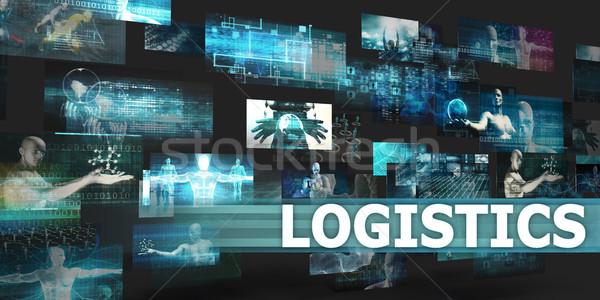 Logistique présentation technologie résumé art affaires Photo stock © kentoh