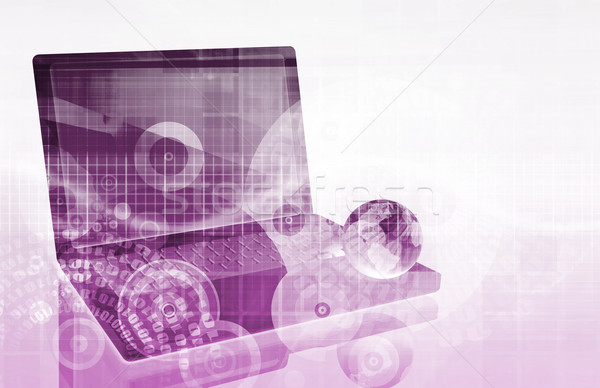 сеть безопасности искусства аннотация бизнеса технологий Сток-фото © kentoh