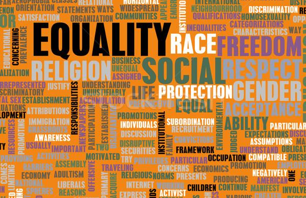социальной равенство уважение гонка бизнеса Сток-фото © kentoh