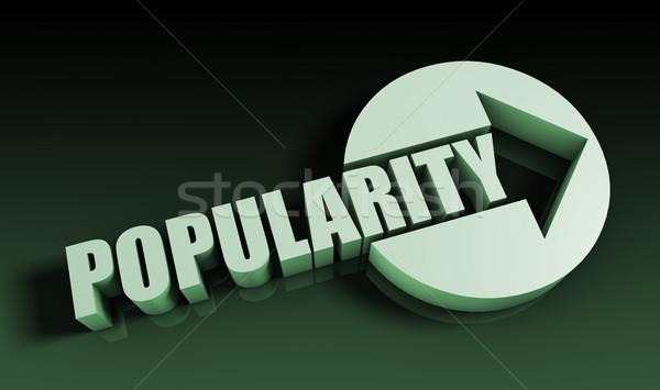 Populariteit pijl business sleutel grafiek presentatie Stockfoto © kentoh