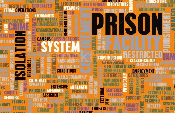 Gevangenis faciliteit gevangenis business gebouw achtergrond Stockfoto © kentoh