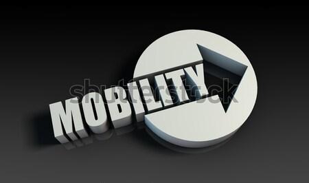 Mobilité flèche affaires web clé graphique Photo stock © kentoh
