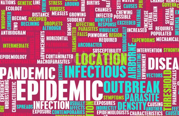 Járvány ragályos betegség ötlet apró irányítás Stock fotó © kentoh
