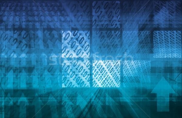 Technológia váz mozog adat szerver háttér Stock fotó © kentoh