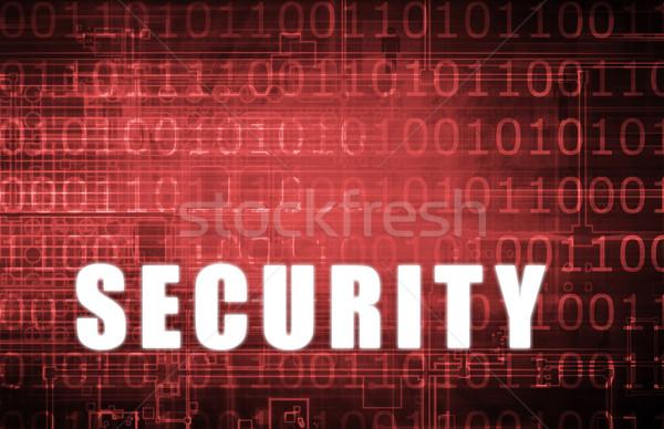 Stock fotó: Biztonság · hálózat · digitális · bináris · figyelmeztetés · absztrakt