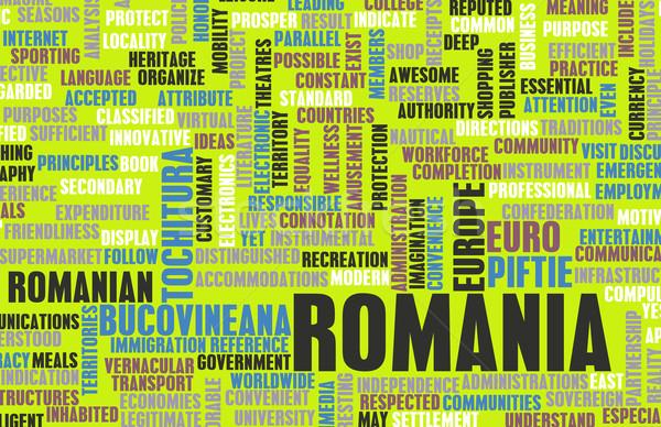 Roumanie pays résumé art affaires alimentaire Photo stock © kentoh
