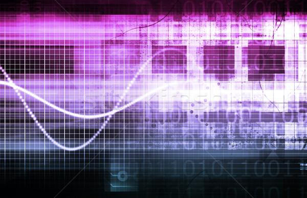 Breedband internet vezel snelheid verbinding kunst Stockfoto © kentoh