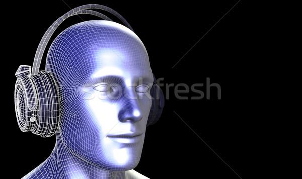 Listening to Music Stock photo © kentoh