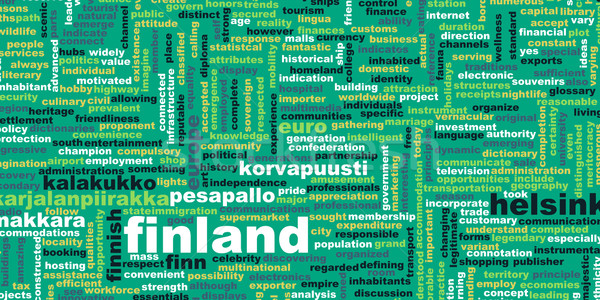 Finlandia kraju streszczenie sztuki działalności żywności Zdjęcia stock © kentoh