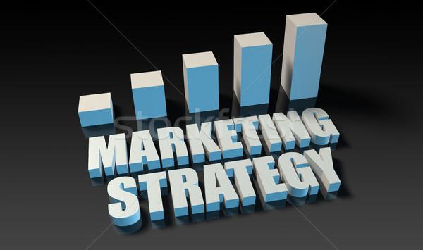 Strategia di marketing grafico grafico 3D blu nero Foto d'archivio © kentoh