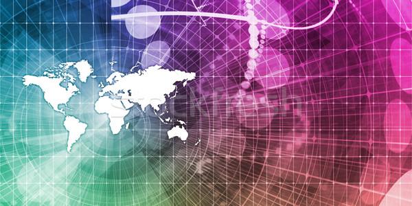 Globális üzlet absztrakt bemutató üzlet munka háttér Stock fotó © kentoh