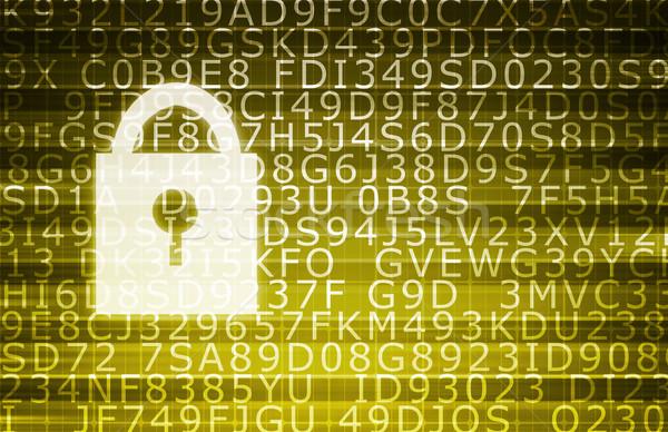 Veri merkezi güvenli sunucular soyut teknoloji Sunucu Stok fotoğraf © kentoh
