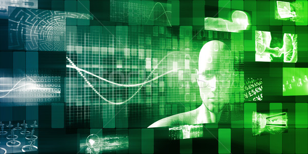 Presentación tecnología diseno fondo campo red Foto stock © kentoh