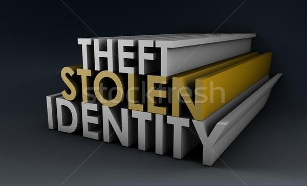 Robado identidad robo de identidad red peligro www Foto stock © kentoh