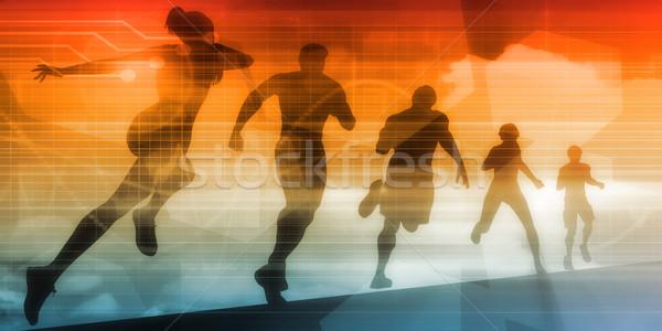 Stok fotoğraf: Spor · örnek · çalışma · insanlar · uygunluk · sanayi