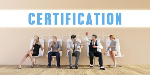 Business Certification Stock photo © kentoh