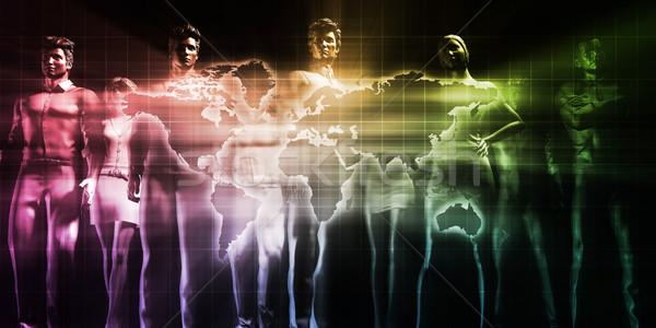Creatieve media digitale inhoud netwerk televisie Stockfoto © kentoh