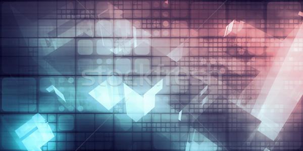 Analytics technologie gegevens bewegende database abstract Stockfoto © kentoh