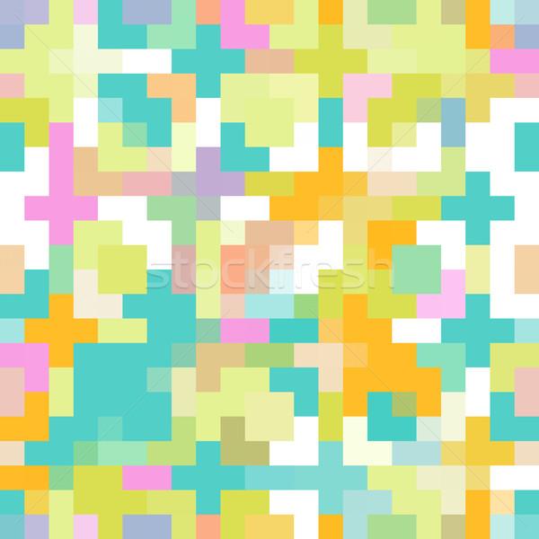 Színes pixel végtelen minta minta végtelenített művészet Stock fotó © kentoh