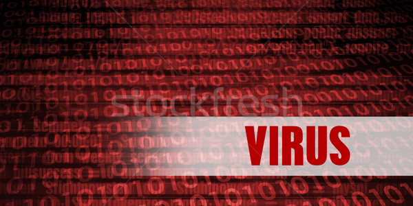 Virus sécurité avertissement rouge technologie Photo stock © kentoh