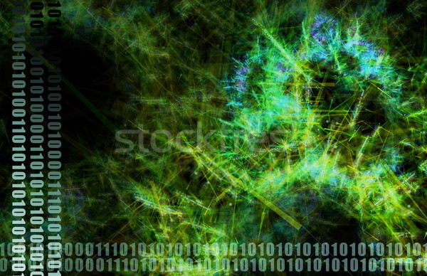 Groene world wide web abstract kunst textuur technologie Stockfoto © kentoh