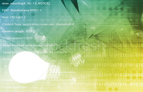 Tecnologia da informação negócio abstrato tecnologia segurança rede Foto stock © kentoh
