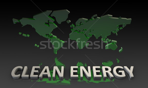 Чистая энергия Мир 3D аннотация природы земле Сток-фото © kentoh