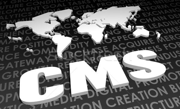 Cms indústria global padrão 3D mapa Foto stock © kentoh