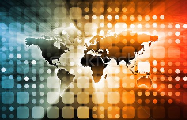 Geïntegreerd globale niveau abstract netwerk Stockfoto © kentoh