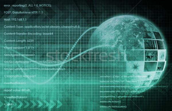 бизнеса технологий аннотация искусства фон сеть Сток-фото © kentoh