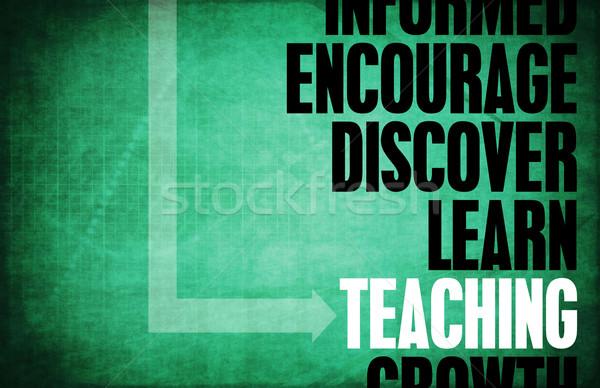 Ensino chave conceitos educação professor fundo Foto stock © kentoh