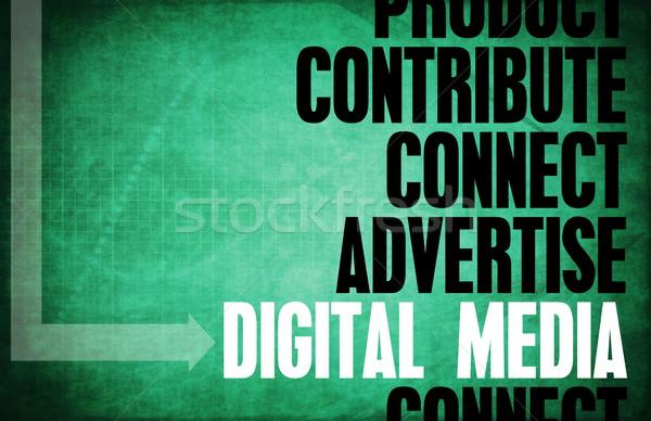 デジタル メディア コア 原則 ビジネス 背景 ストックフォト © kentoh