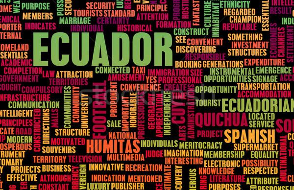 Equateur pays résumé art affaires fond Photo stock © kentoh