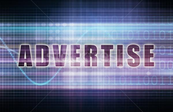 Advertise on a Tech Business Chart Art Stock photo © kentoh
