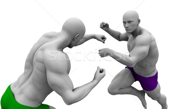Aşırı spor kavga spor vücut öğrenci Stok fotoğraf © kentoh