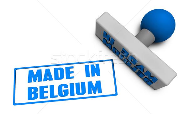 België stempel kotelet papier 3D vruchten Stockfoto © kentoh
