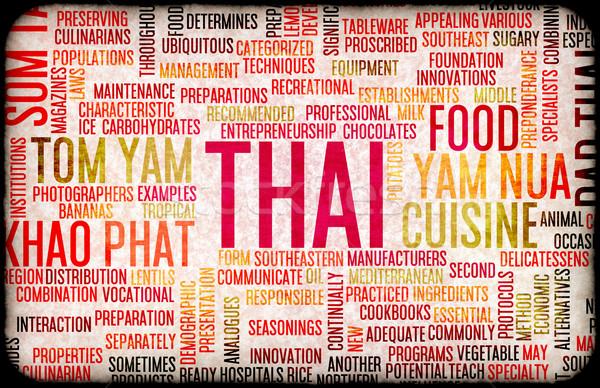 タイ料理 メニュー ローカル 料理 レストラン ストックフォト © kentoh