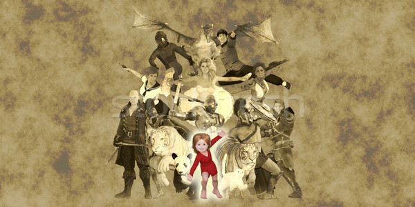 Children Fantasy Book Stock photo © kentoh