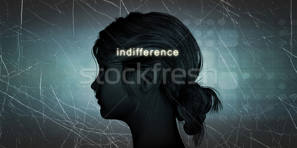 Nő szemben közöny személyes kihívás kék Stock fotó © kentoh