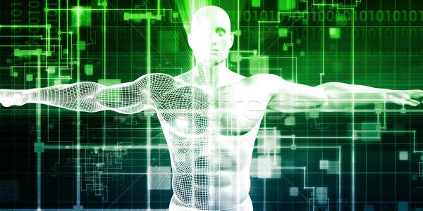 технологий Тенденции цифровой Tech бизнеса промышленности Сток-фото © kentoh