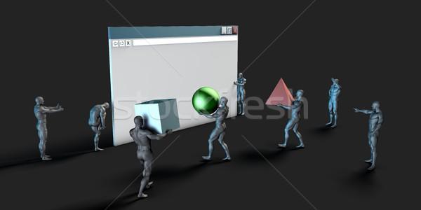 Usuario interfaz ui diseno gráfico web edificio Foto stock © kentoh