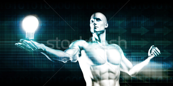 Ontdekking procede onderzoek ontwikkeling man werk Stockfoto © kentoh