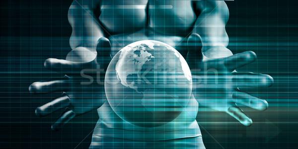 Zugreifen Kontrolle Sicherheit Plattform global Überwachung Stock foto © kentoh