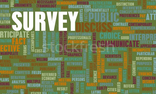 Public Survey Stock photo © kentoh