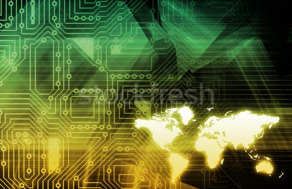 Mobilidade tecnologia telefone fundo rede teia Foto stock © kentoh