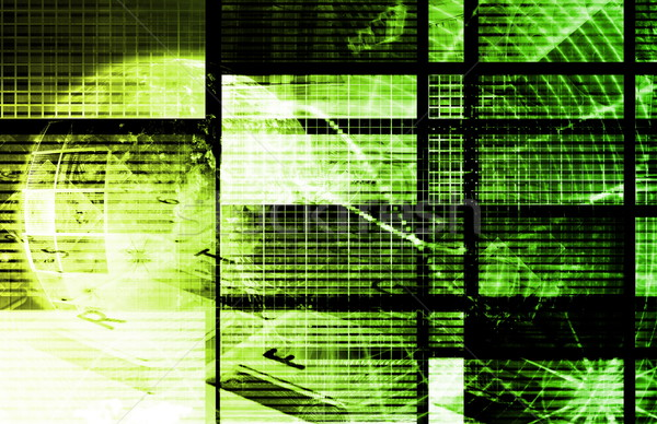 Yeşil bilgi teknolojisi sanat gelecek iş Internet Stok fotoğraf © kentoh
